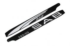 SAB Blackline Hauptrotorblätter 3D 380mm CFK weiß