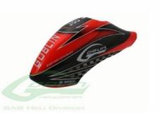 Kabinenhaube rot schwarz für Goblin 380