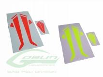 Sticker für Heckflosse und Landegestell für Goblin 380