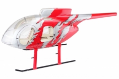 600er Scale Rumpf MD 500E G-Jive Rot