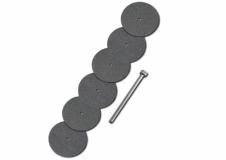 6 Trennscheiben Ø 22 mm + Dorn