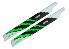ZEAL Carbon Hauptrotorblätter 255mm grün