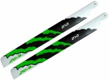 ZEAL Carbon Hauptrotorblätter 210mm grün