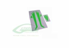 Sticker für Heckflosse und Landegestell in grün für Goblin 380