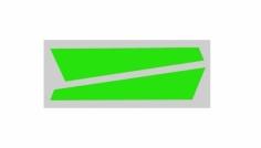 OXY Ersatzteil Aufkleber für vertikale Finne in grün für OXY3