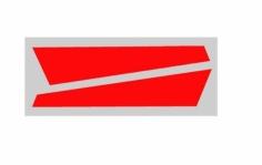 OXY Ersatzteil Aufkleber für vertikale Finne in orange/rot für OXY3