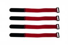 Akkuklettband 200mm in rot 4 Stück