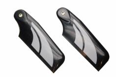 SAB Heckrotorblätter weiß aus Carbon 70mm für Goblin 380