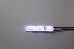 LED Streifen weiß mit 5mm LED spritzwassergeschützt für 3S / 12Volt
