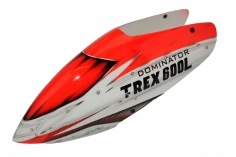 Fusuno Red Assasin Airbrush fiberglas Haube für T-REX 600L Dominator