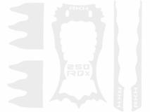 Rakonheli Designaufkleber weiß für Rakonheli 250RQX