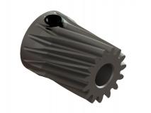 OXY Ersatzteil Stahl Motorritzel schräg 15 Zähne  - M0.5 - 3.50 mm
