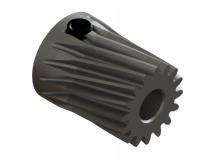 OXY Ersatzteil Stahl Motorritzel schräg 16 Zähne  - M0.5 - 3.50 mm