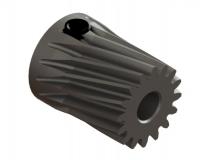 OXY Ersatzteil Stahl Motorritzel schräg 16 Zähne  - M0.5 - 3.17 mm