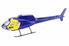 450er Rumpf AS 350 blau/gelb