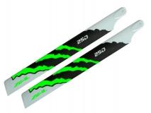 ZEAL Carbon Hauptrotorblätter 250mm grün