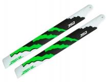 ZEAL Carbon Hauptrotorblätter 350mm grün