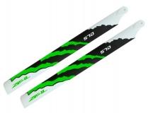 ZEAL Carbon Hauptrotorblätter 570mm grün