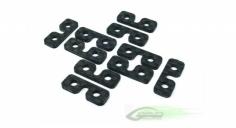 Servoplätchen carbon 10 Stück für Goblin 500, 570, 630, 700, 770