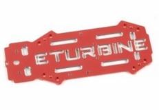 Center Platte aus Alu in rot für E-Turbine 250er FPV Racer
