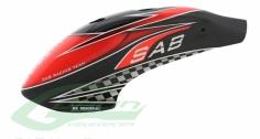 Kabinenhaube rot/schwarz Carbon für Goblin 500