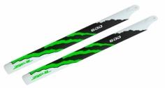 ZEAL Carbon Hauptrotorblätter 600mm grün