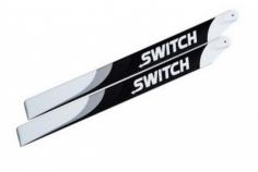 SwitchBlades Hauptrotorblätter Carbon 383mm