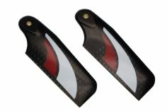 SAB Heckrotorblätter aus Carbon in rot 80mm für Goblin 500