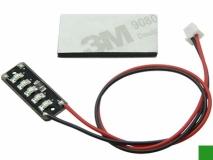 Micro SMD LED Beleuchtung in grün für 1S Akkus 3,7Volt