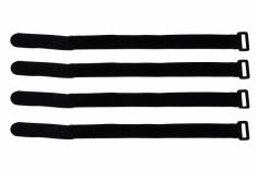 Akkuklettband 300mm in schwarz 4 Stück