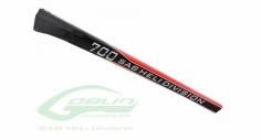 Vollcarbon Heckrohr schwarz/rot für Goblin 700
