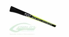 Vollcarbon Heckrohr schwarz/gelb für Goblin 700
