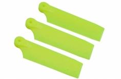 OXY Ersatzteil Heckrotorblätter gelb 47mm für das 3 Blatt Heck für den OXY 3