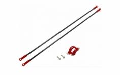 Rakonheli Heckstreben Carbon/Alu in rot für Blade 230s