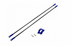 Rakonheli Heckstreben Carbon/Alu in blau für Blade 230s