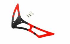 Rakonheli Leitwerk Set aus Carbon in rot für Blade 230s und 250CFX