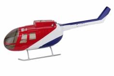 500er Rumpf BO-105 Red/Blue