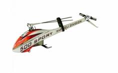 Goblin 500 Sport weiß/rot mit 2 Satz Rotorblätter