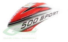 Kabinenhaube weiß/rot für den Goblin 500 Sport