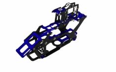Rakonheli Hauptrahmen aus Carbon in blau für Blade 230S
