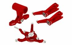 Rakonheli Taumelscheibe und Rotorkopf Set Alu in rot für Blade 230S und 250CFX