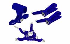 Rakonheli Taumelscheibe und Rotorkopf Set Alu in blau für Blade 230S und 250CFX