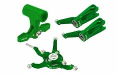 Rakonheli Taumelscheibe und Rotorkopf Set Alu in grün für Blade 230S und 250CFX