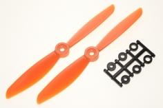 HQ Propeller Direct Drive Glasfaser verstärkt orange 6x4,5 2 Stück cw