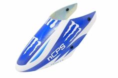 Rakonheli Fiberglass Haube Monster Design blau/weiß für den Blade Nano CP S