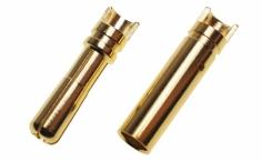 Goldkontaktstecker geschlitzt mit Löthalbschale Ø4,0mm 1 Paar