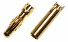Goldkontaktstecker mit Löthalbschale Ø4,0mm 1 Paar