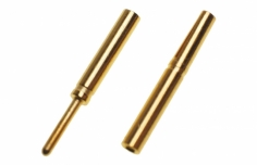 Goldkontaktstecker 0,8mm 1 Paar