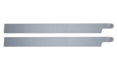 HeliTec der Blattschmied Scale Hauptrotorblätter 2Blatt in licht grau 435mm