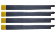 HeliTec der Blattschmied Scale Hauptrotorblätter 4Blatt 435mm für 500er Helis